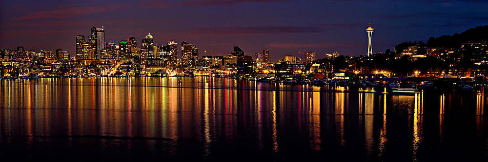 Mary Jo Allen - Seattle Night Reflections