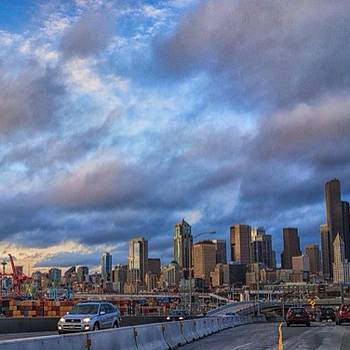 #seattle #skyline  #clouds #rx1 by Ron Greer