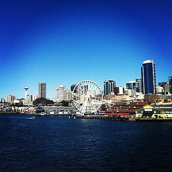 #seattle Skyline. Gorgeous Day For A by Stacy C