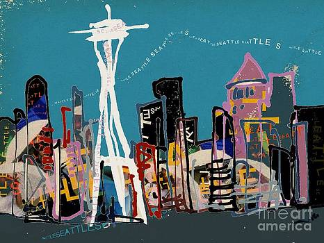 Seattle Skyline by Jennifer Wu