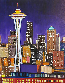 Seattle Skyline by Kevin Hughes