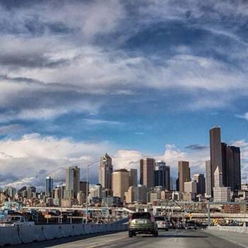 #seattle #skyline #viaduct #rx1 by Ron Greer