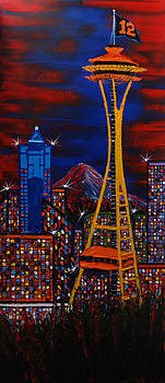 Seattle Space Needle's 12th Man #7a by Portland Art Creations