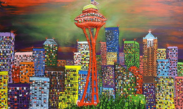 Seattle The Emerald City by Portland Art Creations