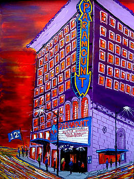 Seattle's Paramount Theatre by Portland Art Creations