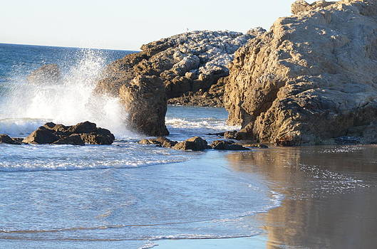 Secret Malibu Beach Cove by Kathy Vilim