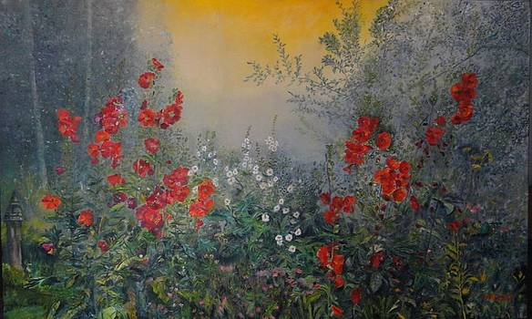 SECRET GARDEN 110x180 cm by Dagmar Helbig