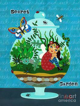 Secret Garden Fairy in a Terrarium by LuLu Mypinkturtle