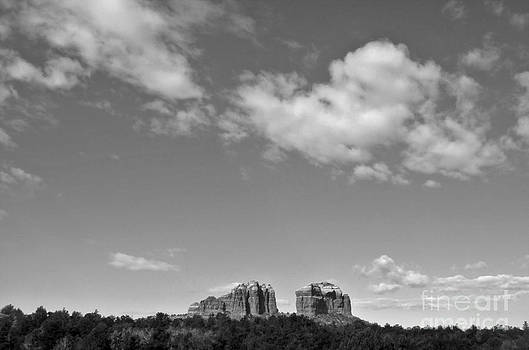 Gregory Dyer - Sedona Arizona Big Sky in Black and White