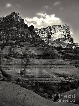 Gregory Dyer - Sedona Arizona Mountains in black and white - 02