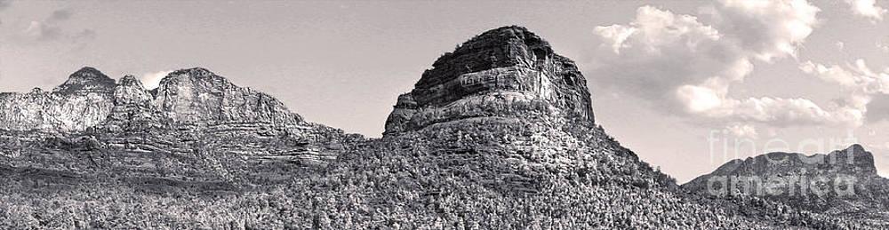 Gregory Dyer - Sedona Arizona Panorama in Black and White