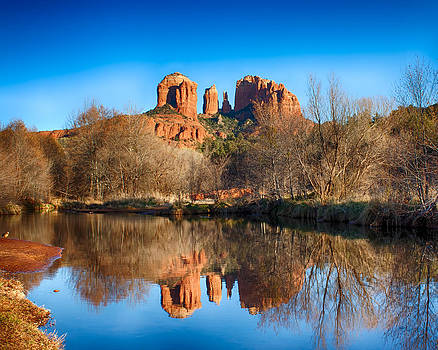 Sedona Winter Reflections by Fred Larson
