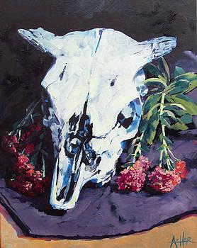 Sedums and Skull by Azhir Fine Art