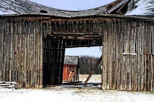 See through barn by Cheryl Cencich