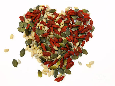 Seed and fruit heart by Rosemary Calvert
