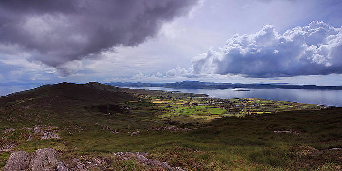 Seefin hills and Dunmanus Bay by Adrian Hendroff