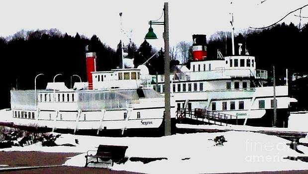 Gail Matthews - Segwun and Wenonah Steamships in Winter