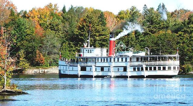 Gail Matthews - Segwun Steamship heading out on Fall Tour