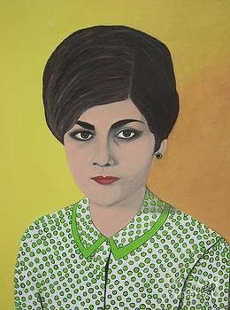 Self portrait age 20 by Iris  Mora
