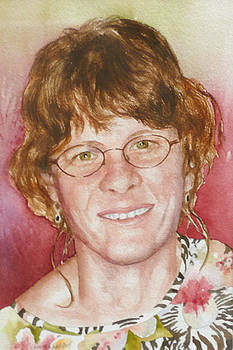 Anne Gifford - Self Portrait in a Flowered Shirt