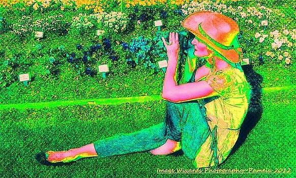 Pamela Smale Williams - Self Portrait On the Arboretum Grounds in Spring