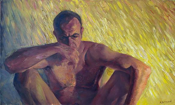 Self Portrait. Sitting by Misha Lapitskiy