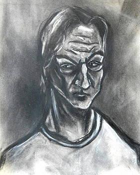 Kenneth Agnello - Self-Portrait Wearing T-Shirt - 1983