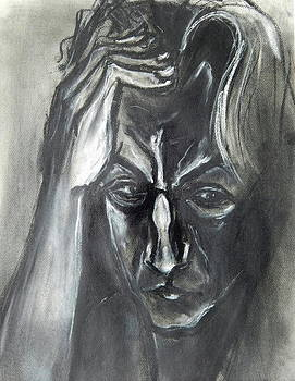 Kenneth Agnello - Self-Portrait with Hand on Head - 1983
