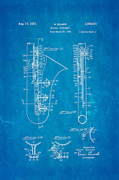 Ian Monk - Selmer Saxophone Patent Art 1937 Blueprint