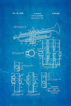 Ian Monk - Selmer Trumpet Patent Art 1939 Blueprint