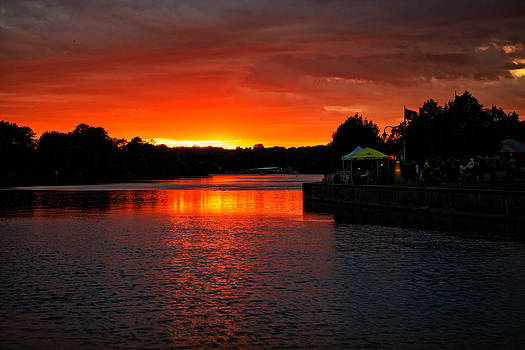 Seneca River Sunset by Dave Files