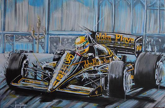 Senna on the Casino Square by Juan Mendez