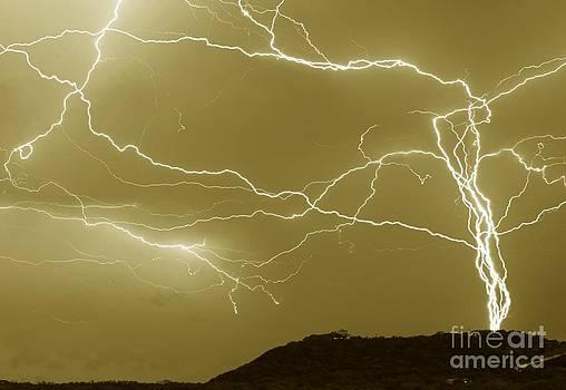 Michael Tidwell - Sepia Converging Lightning