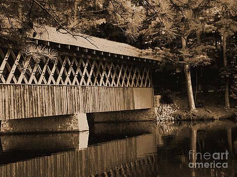 Sepia Covered Bridge by Annette Allman