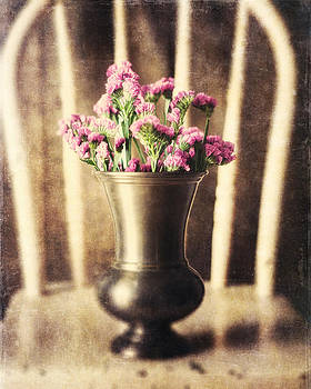 Lisa Russo - Sepia Flowers in Vase on Chair