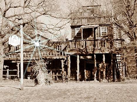 Sepia Old Saloon by Trevor Hilton
