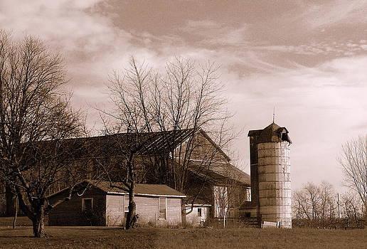 Rosemarie E Seppala - Sepia Tone Farm Late Autumn