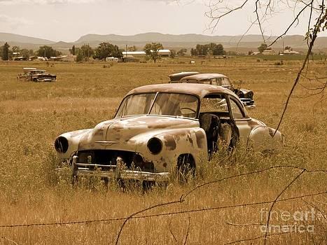John Malone - Sepia Toned Car Wreaks