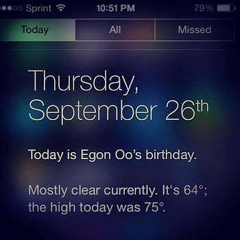 #september 26th Egon Oo's #birthday by Orlando Gonzalez