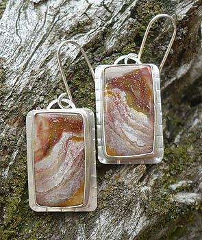 Serape Jasper Earrings by Arianna Bara