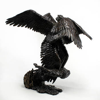 Adam Long - Seraph Angel a religious bronze sculpture by Adam Long