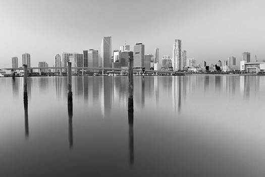 Serene City in Black and White by Derek Latta