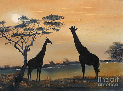Rift Valley Sunset by Cynthia Adams