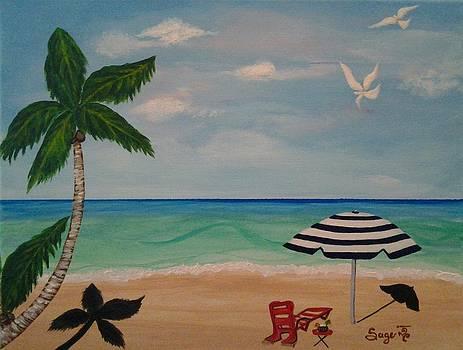 Serenity Beach by Edwina Sage Washington