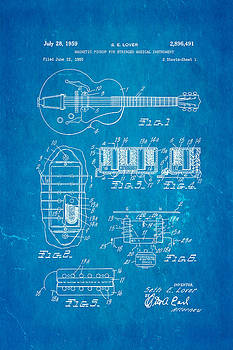 Ian Monk - Seth Lover Gibson Humbucker Pickup Patent Art 1959 Blueprint