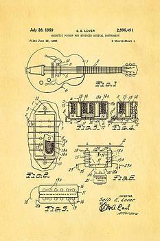 Ian Monk - Seth Lover Gibson Humbucker Pickup Patent Art 1959