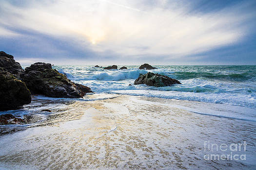 Setting Sun And Rising Tide by CML Brown