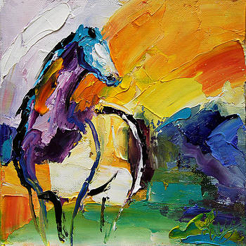 Settled In Horse 5 2014 by Laurie Pace