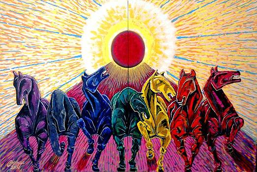 Seven Horses of Sun by Chinmaya BR