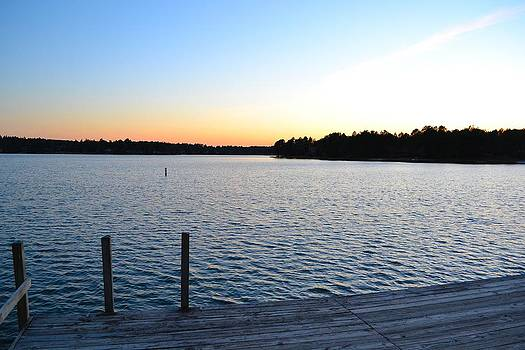 Seven Lake Sunset Dock by Tim Toomey
